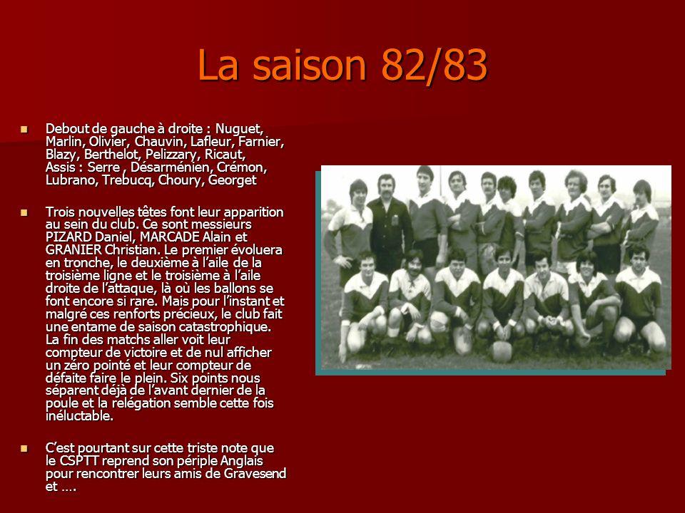 La saison 82/83