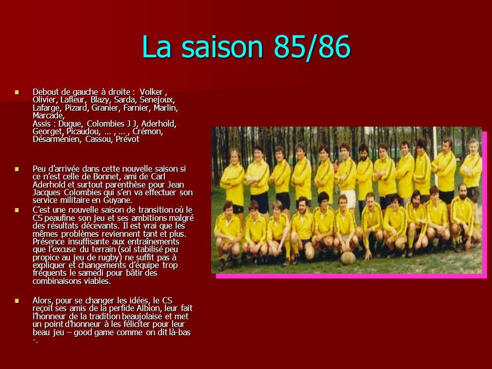 La saison 85/86