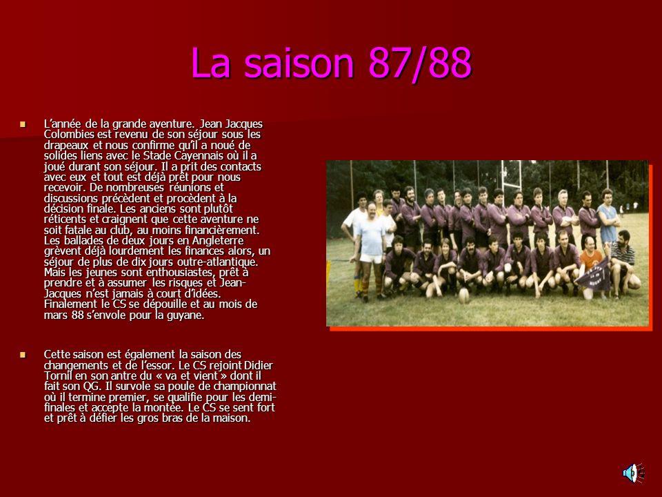 La saison 87/88