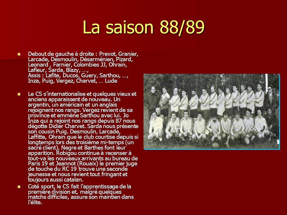 La saison 88/89