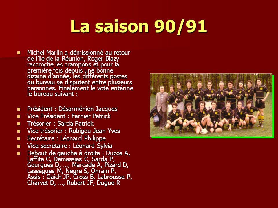 La saison 90/91