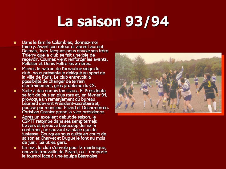 La saison 93/94