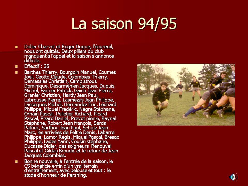 La saison 94/95