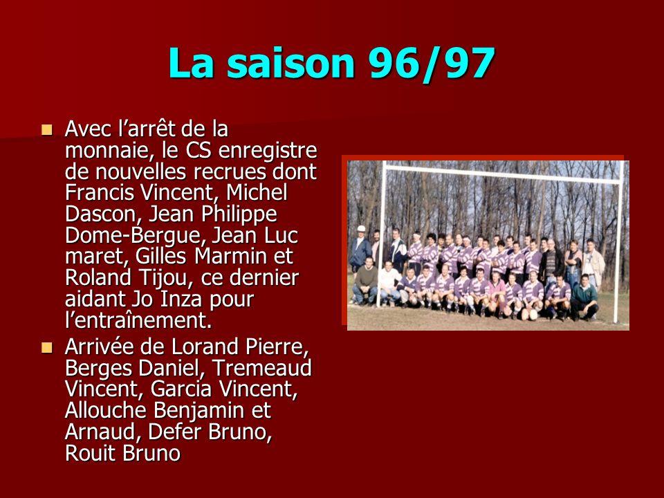 La saison 96/97