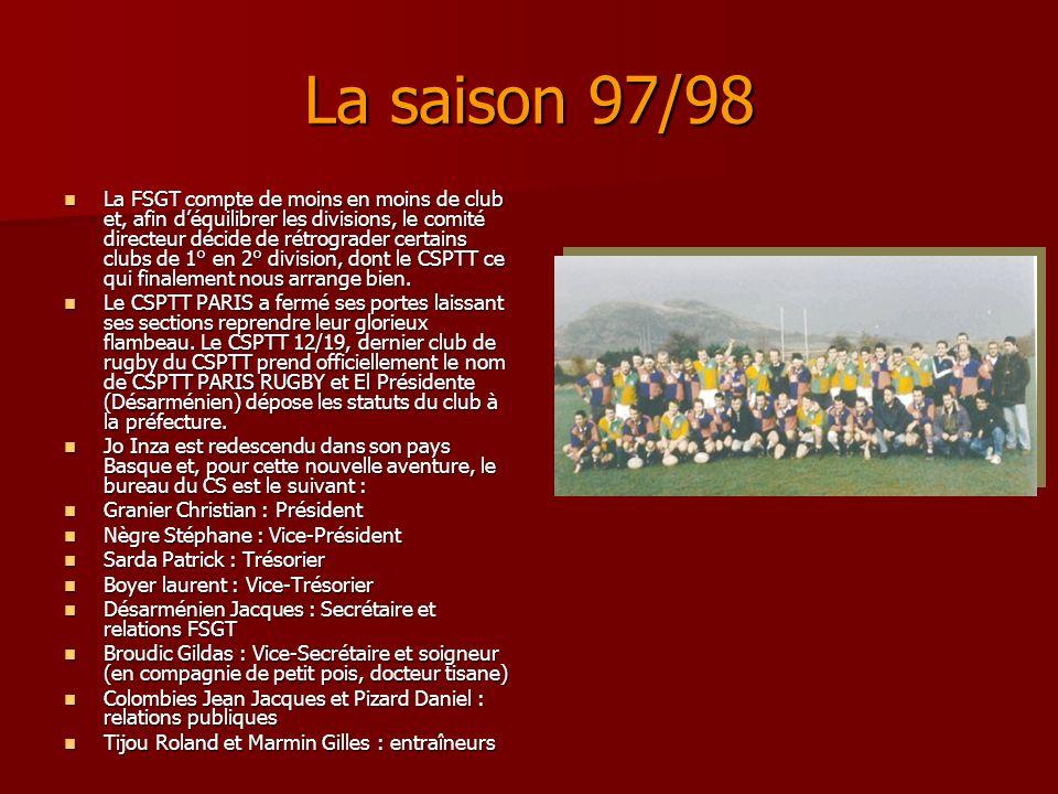 La saison 97/98