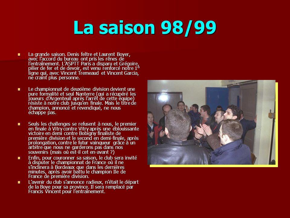 La saison 98/99