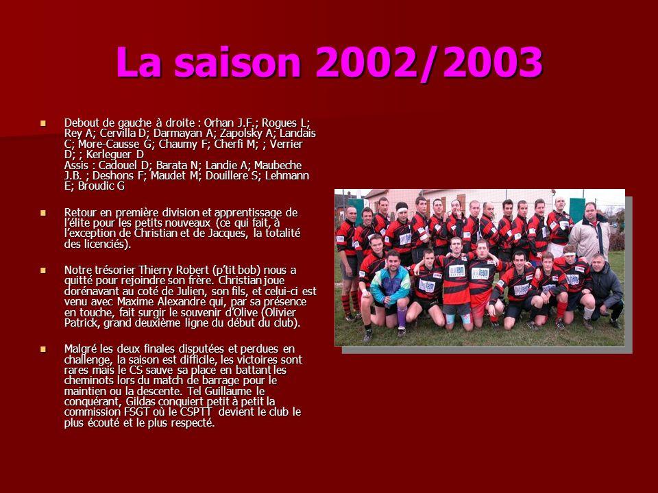 La saison 2002/2003