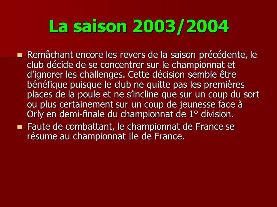 La saison 2003/2004