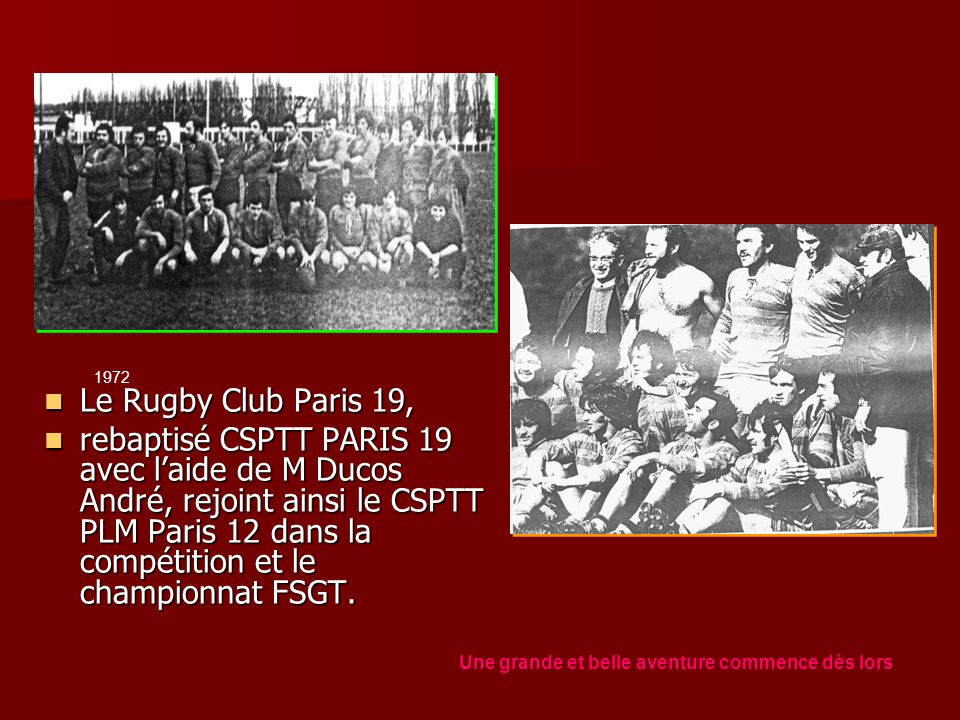 1972 Le Rugby Club Paris 19,