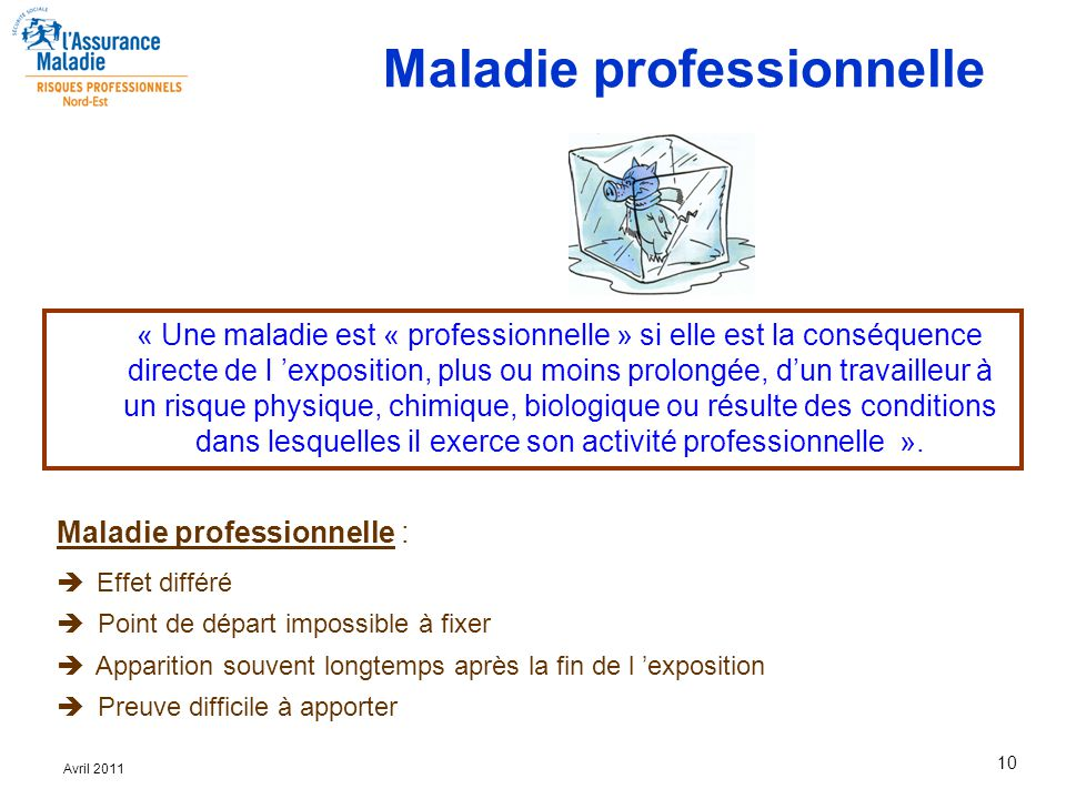 Maladie professionnelle