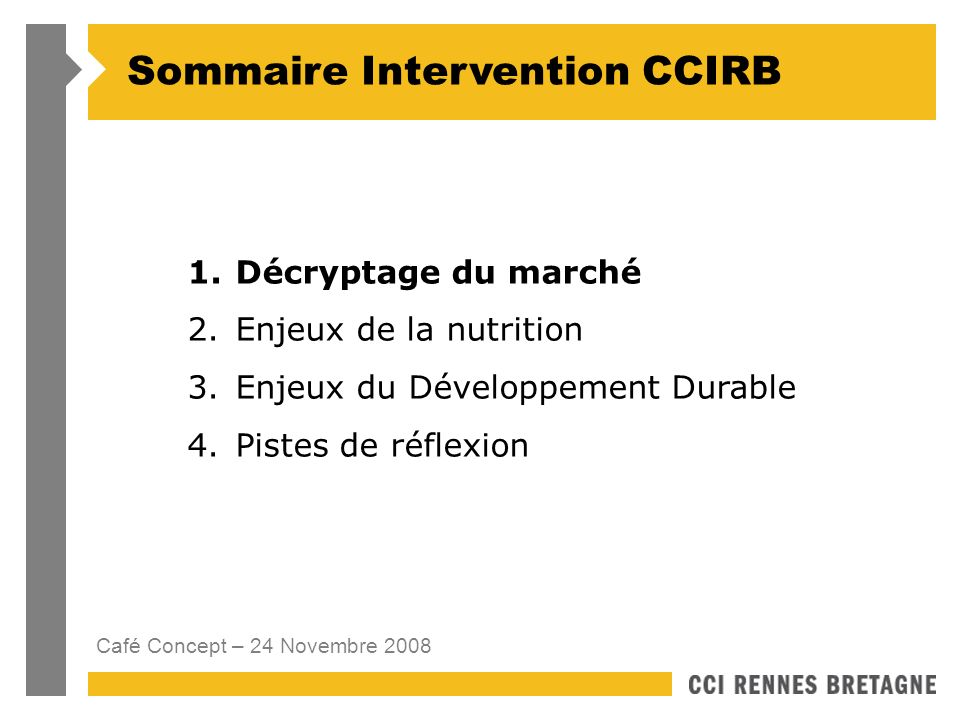 Sommaire Intervention CCIRB