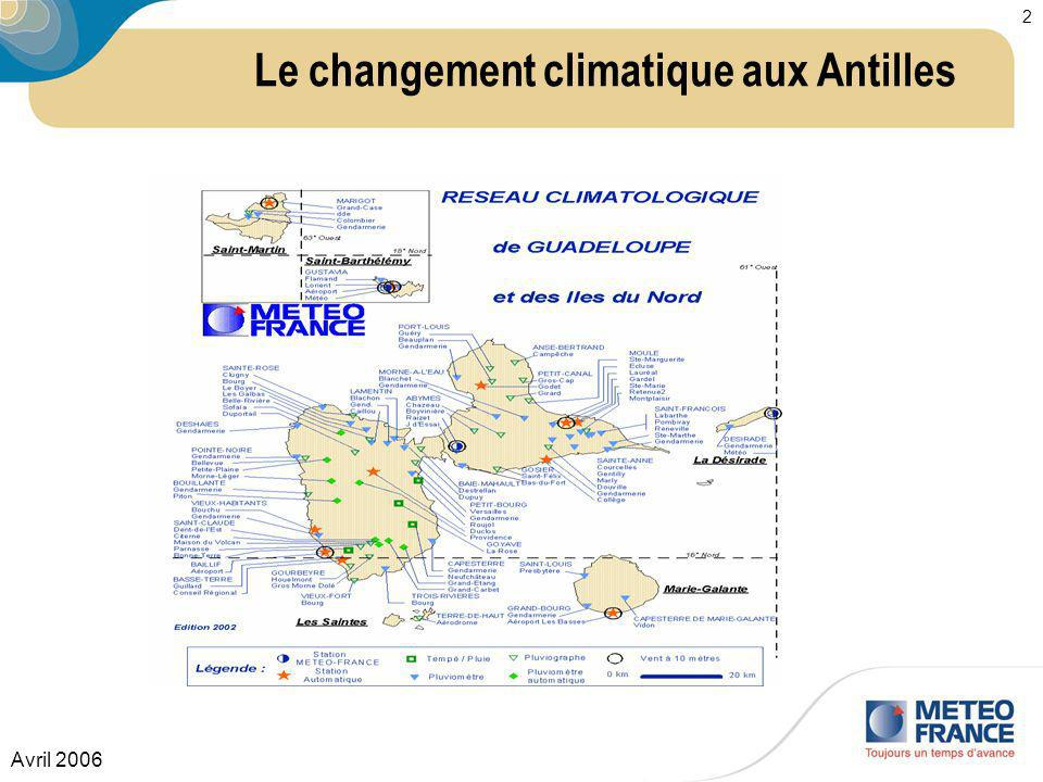 Le changement climatique aux Antilles