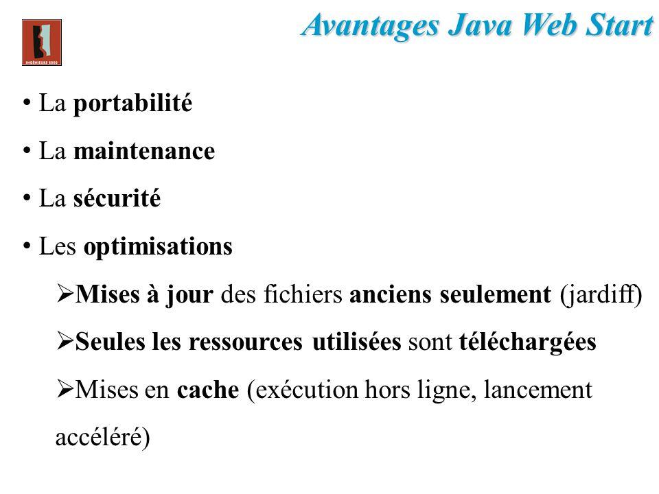 Avantages Java Web Start