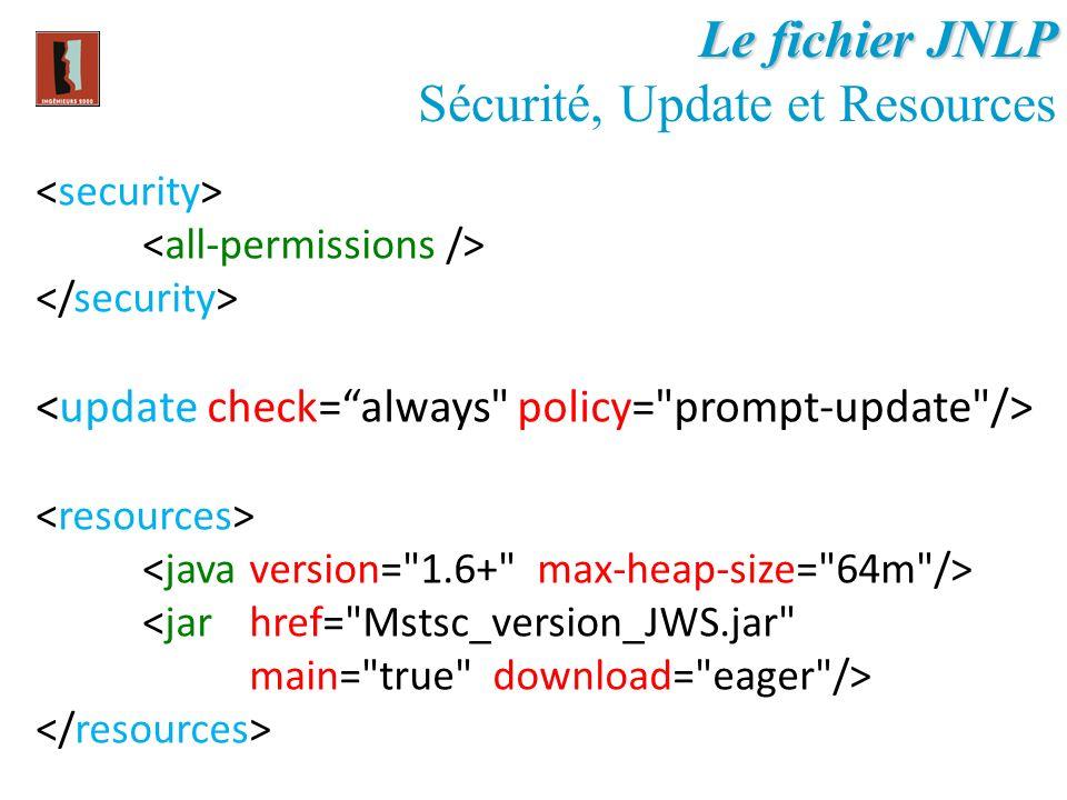 Sécurité, Update et Resources