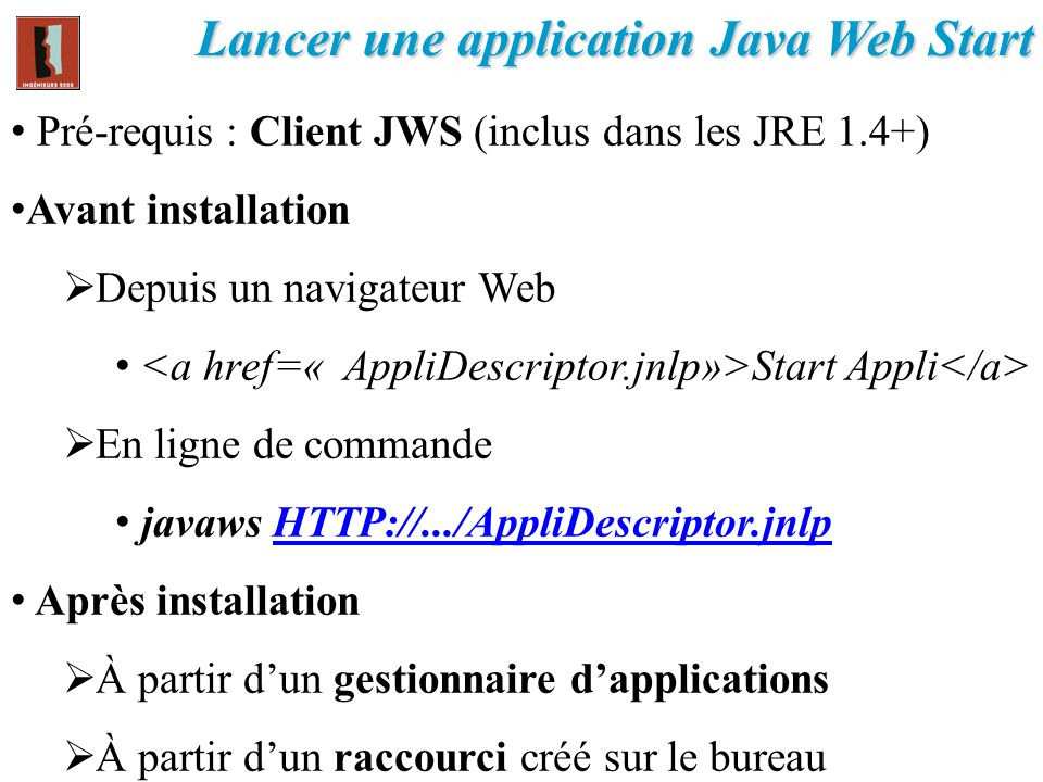 Lancer une application Java Web Start