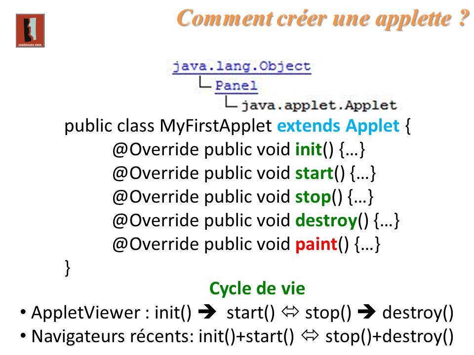 Comment créer une applette