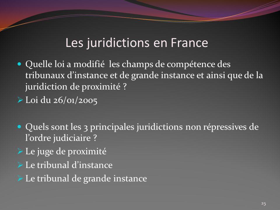 Les juridictions en France