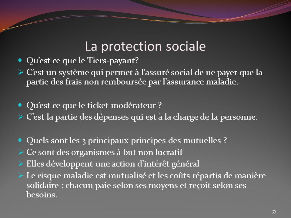 La protection sociale Qu'est ce que le Tiers-payant