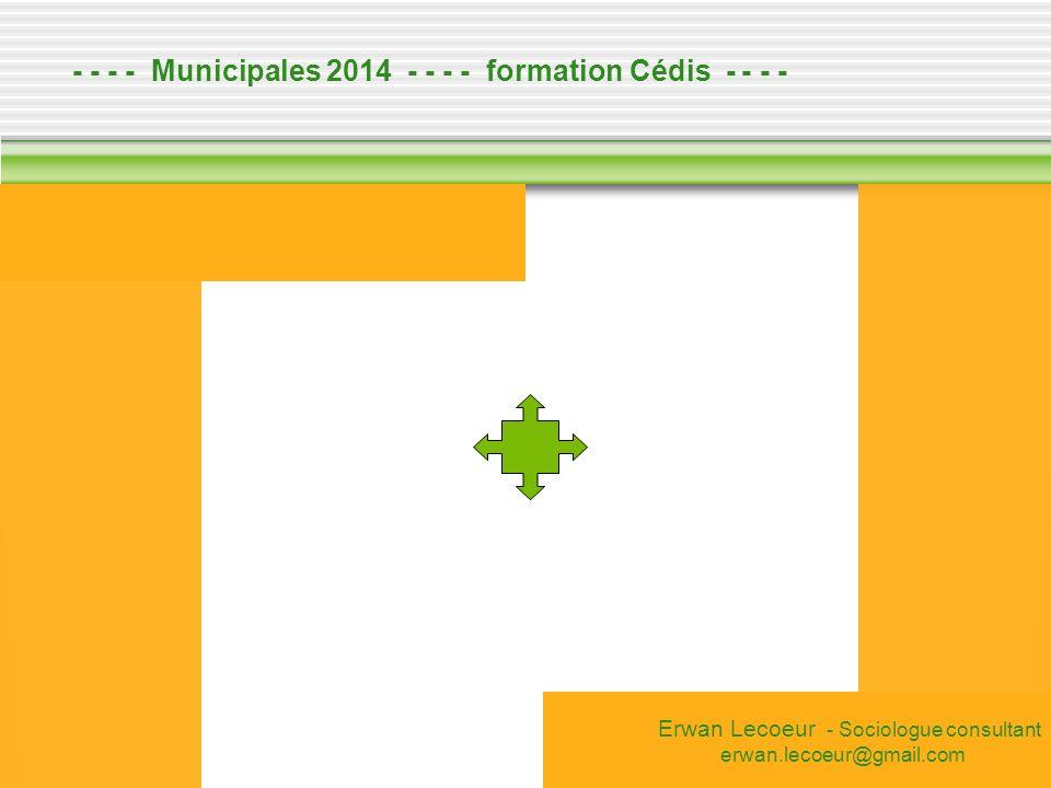 - - - - Municipales 2014 - - - - formation Cédis - - - -