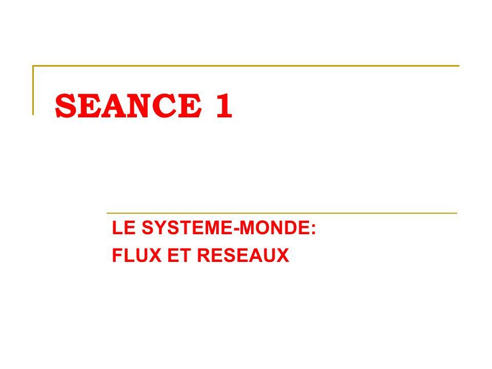 LE SYSTEME-MONDE: FLUX ET RESEAUX