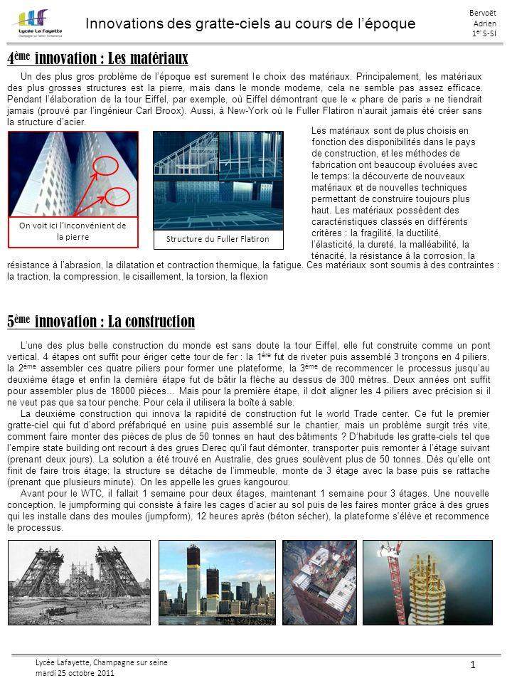 Innovations des gratte-ciels au cours de l'époque