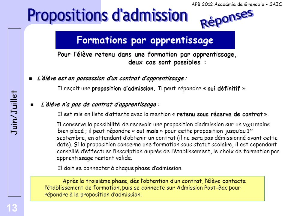 Formations par apprentissage