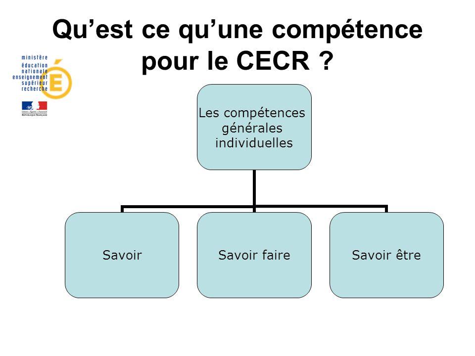 Qu'est ce qu'une compétence pour le CECR