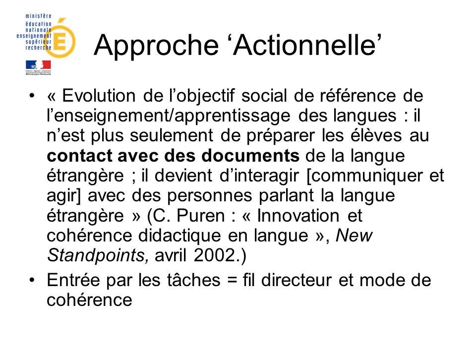 Approche 'Actionnelle'