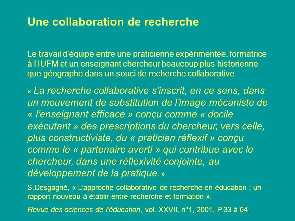 Une collaboration de recherche