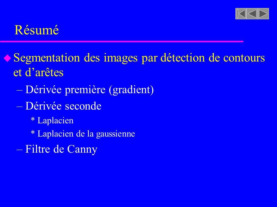 Résumé Segmentation des images par détection de contours et d'arêtes