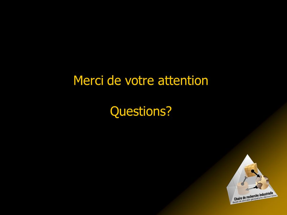 Merci de votre attention Questions
