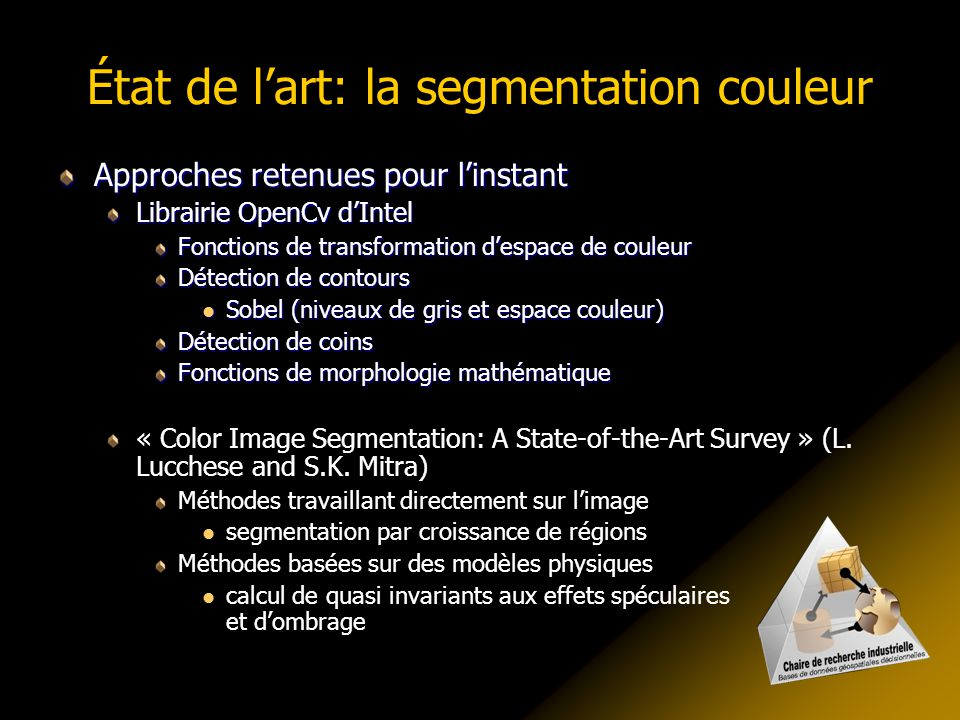 État de l'art: la segmentation couleur