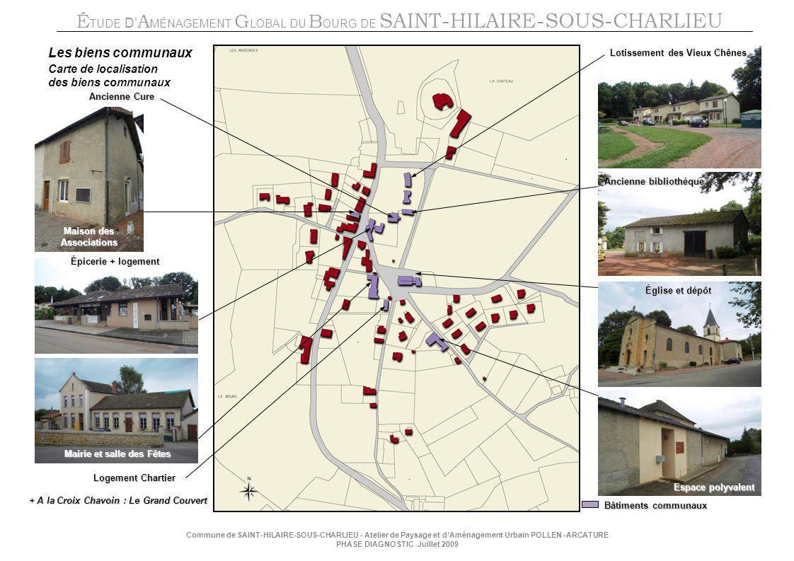 Les biens communaux Carte de localisation des biens communaux