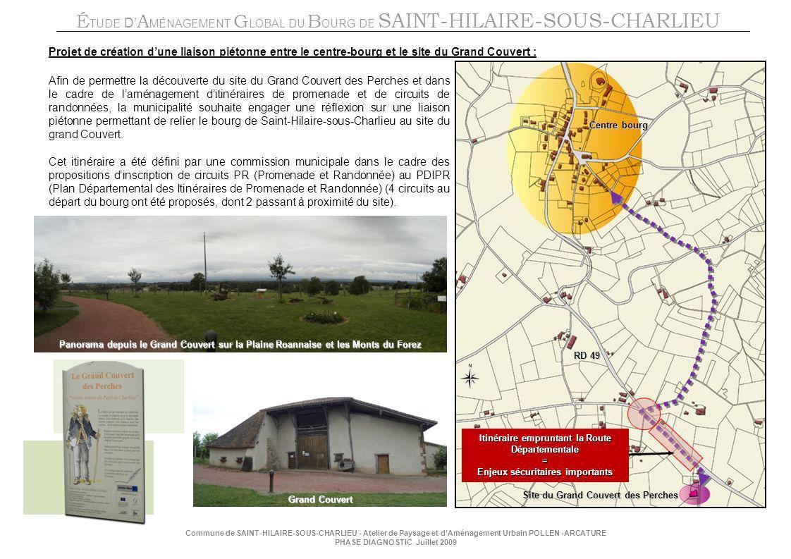 Projet de création d'une liaison piétonne entre le centre-bourg et le site du Grand Couvert :