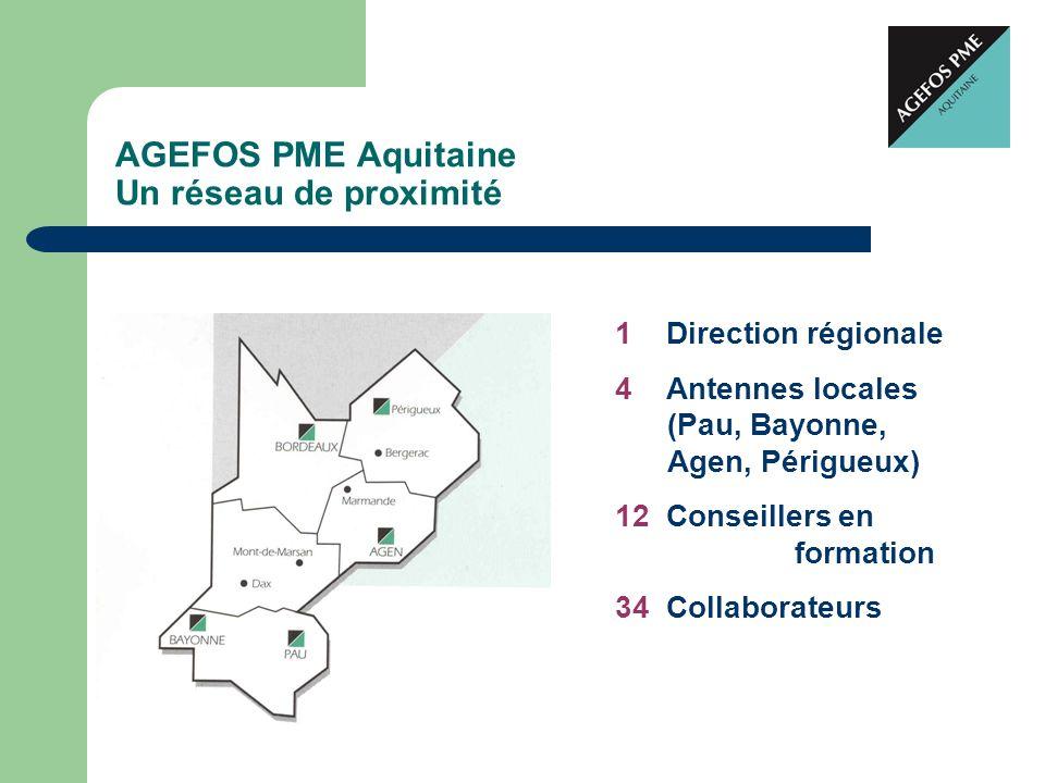 AGEFOS PME Aquitaine Un réseau de proximité