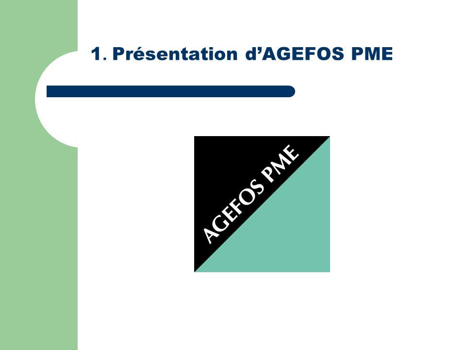 1. Présentation d'AGEFOS PME