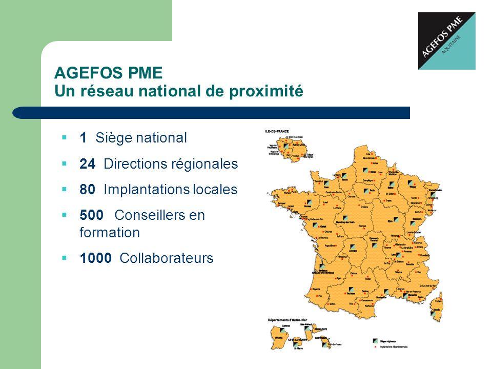 AGEFOS PME Un réseau national de proximité