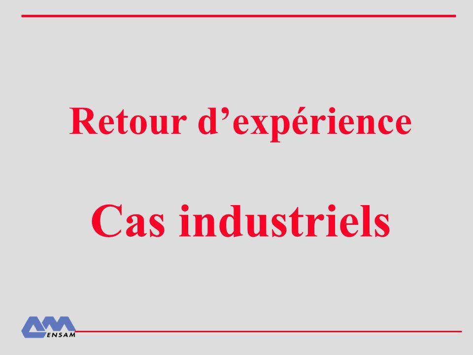 Retour d'expérience Cas industriels