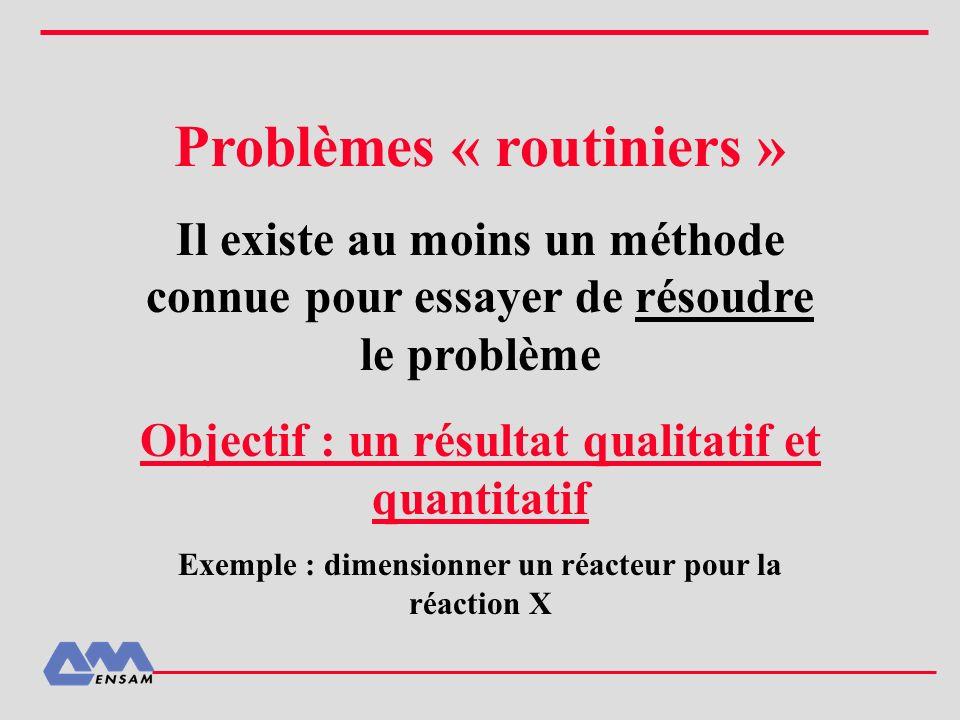 Problèmes « routiniers »