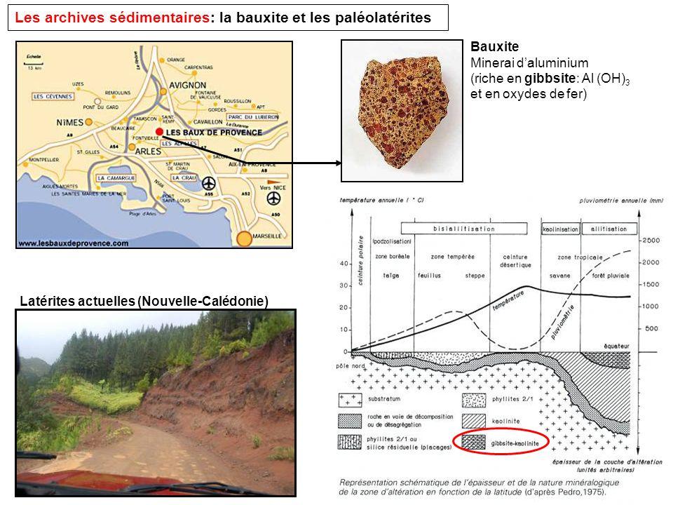 Les archives sédimentaires: la bauxite et les paléolatérites