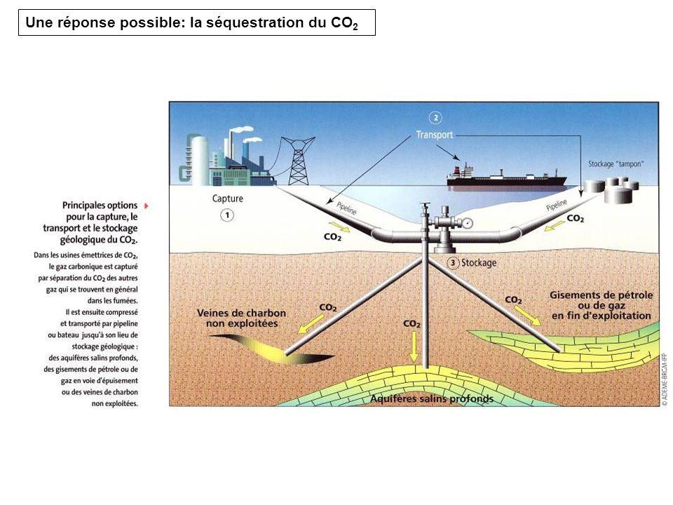 Une réponse possible: la séquestration du CO2