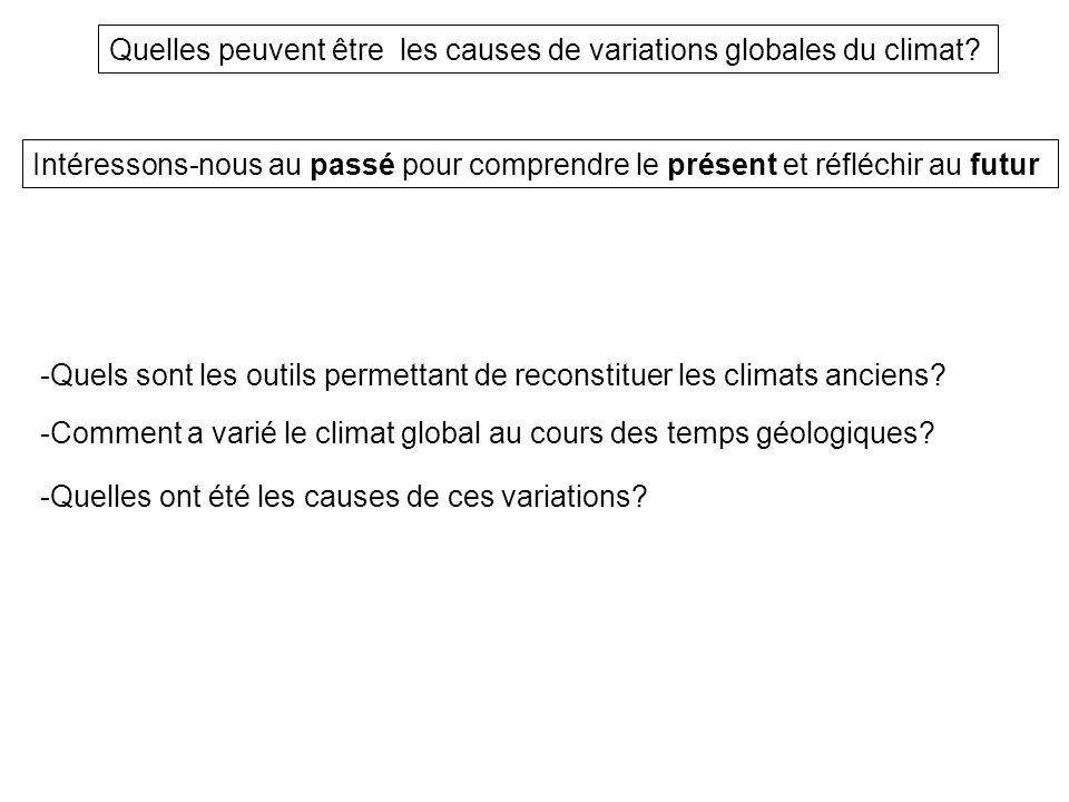 Quelles peuvent être les causes de variations globales du climat