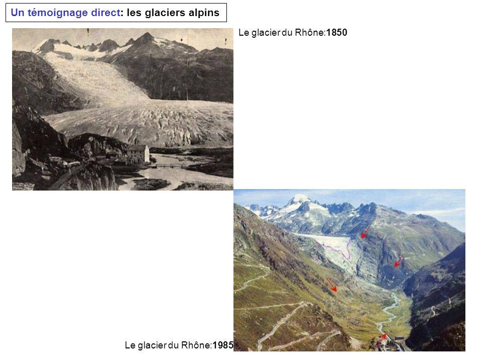 Un témoignage direct: les glaciers alpins