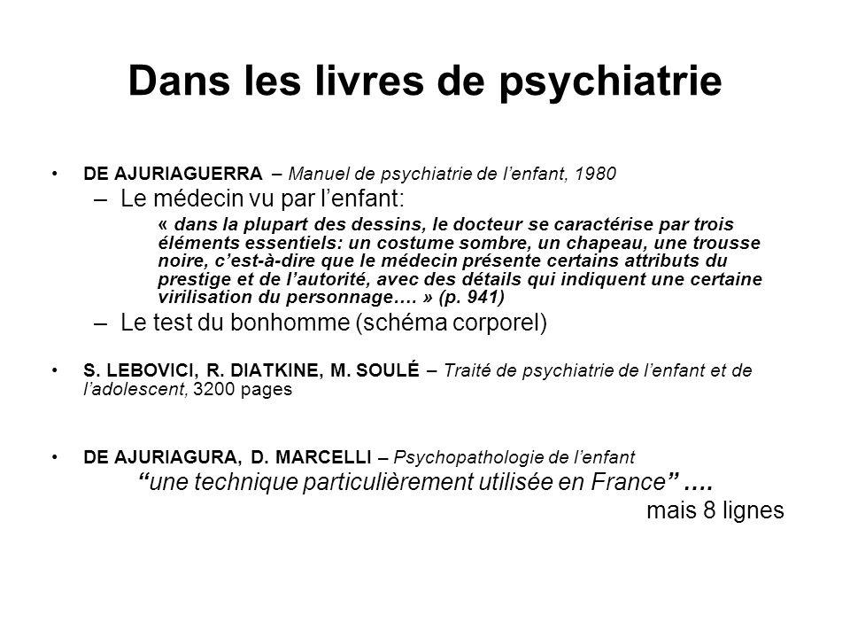 Dans les livres de psychiatrie