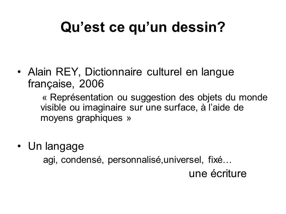 Qu'est ce qu'un dessin Alain REY, Dictionnaire culturel en langue française, 2006.