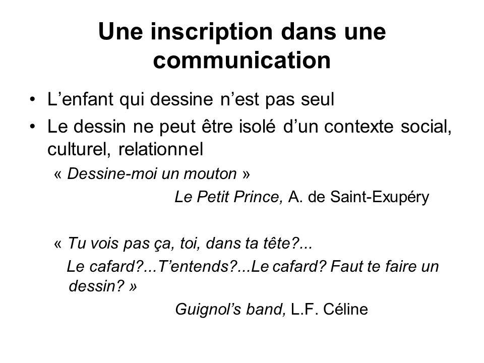 Une inscription dans une communication
