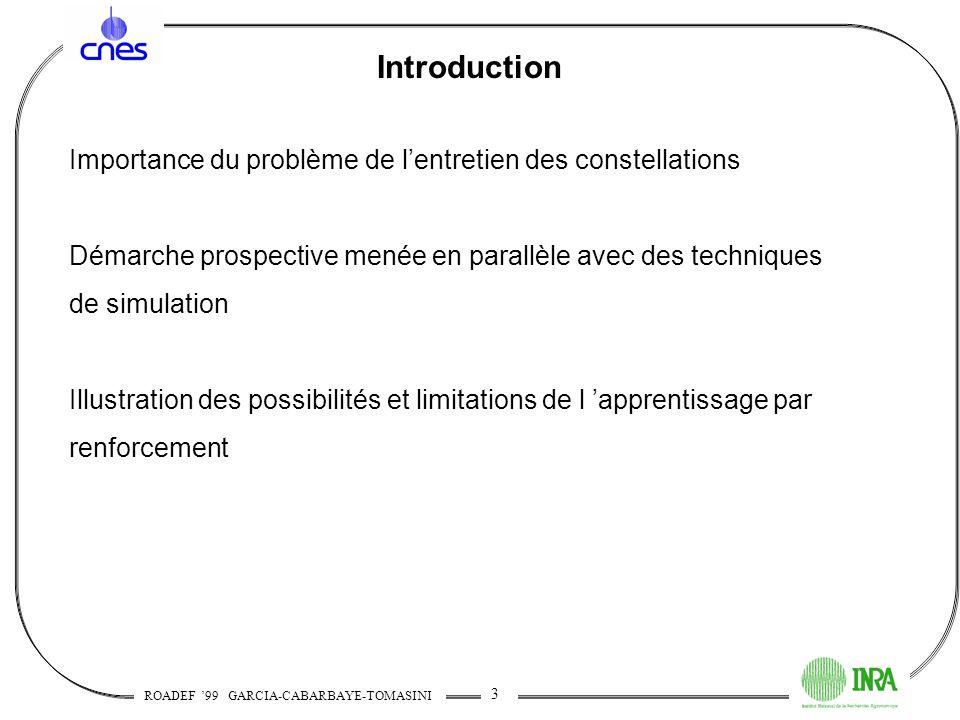 Introduction Importance du problème de l'entretien des constellations