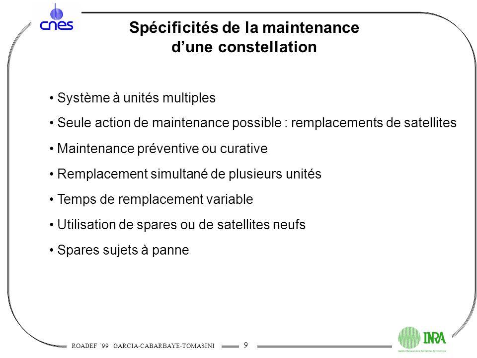 Spécificités de la maintenance d'une constellation