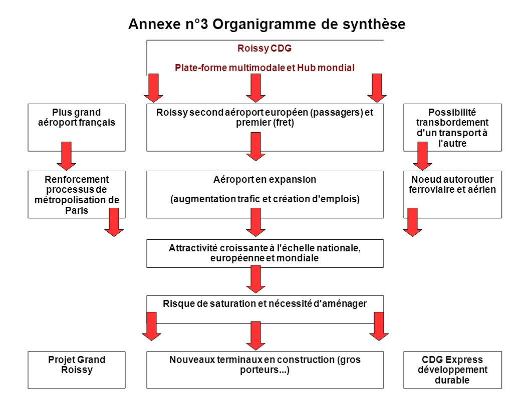 Annexe n°3 Organigramme de synthèse