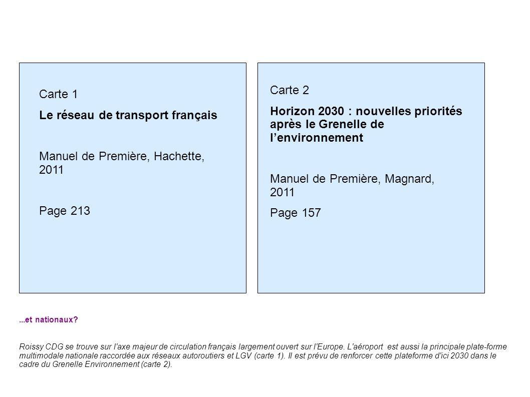 Manuel de Première, Magnard, 2011 Page 157 Carte 1